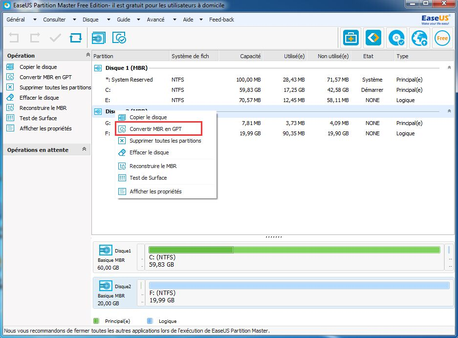 how to change a partition from mbr to gpt